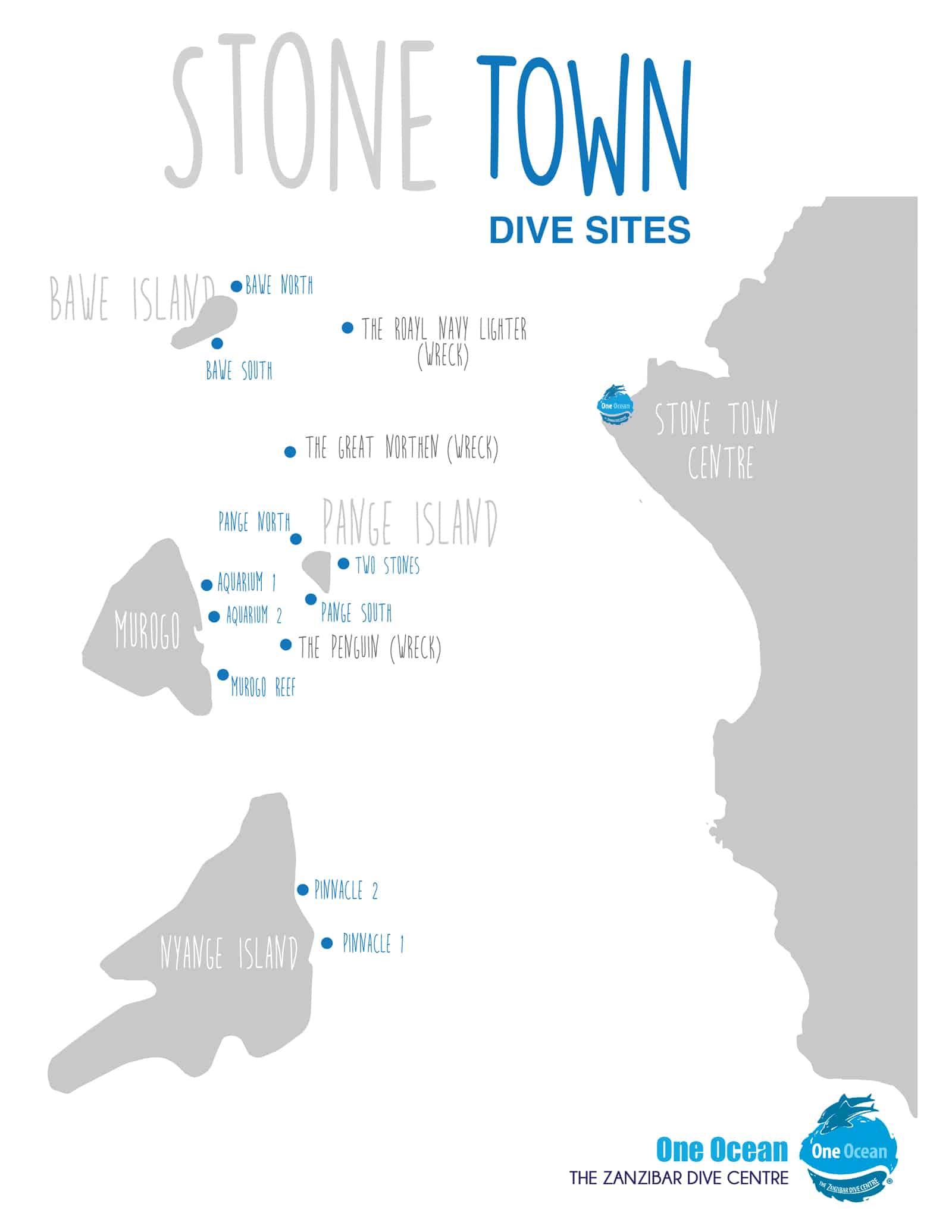 Stone Town dive sites