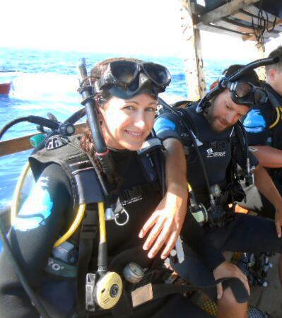 Scuba diver buddy check