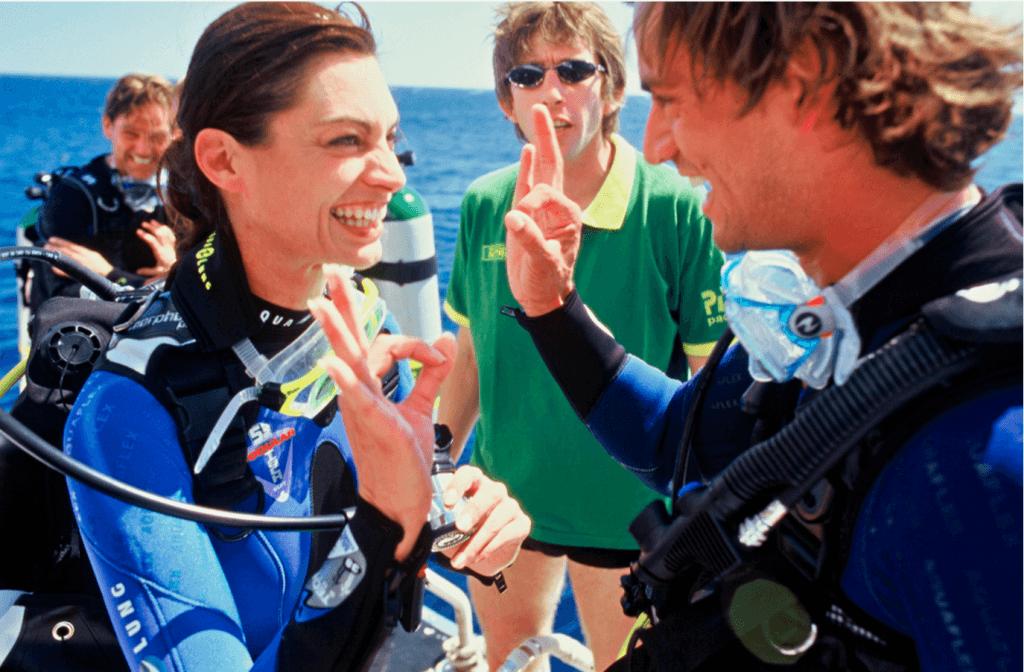 Diver giving OK