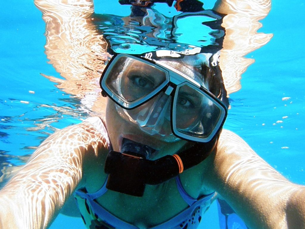 Snorkeller selfie